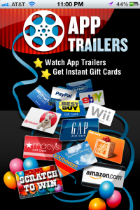 Home Screen For AppTrailers