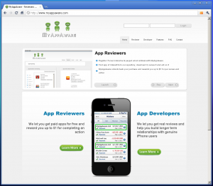 MyAppAware Welcome Screen