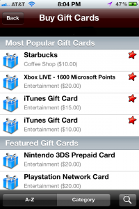 Buy Gift Cards With JunoCredits